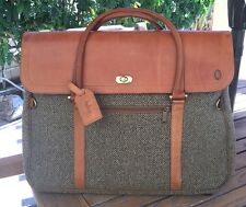 Vintage Hartmann Walnut Tweed Belting Leather Traveler Carriage Carry-On Bag