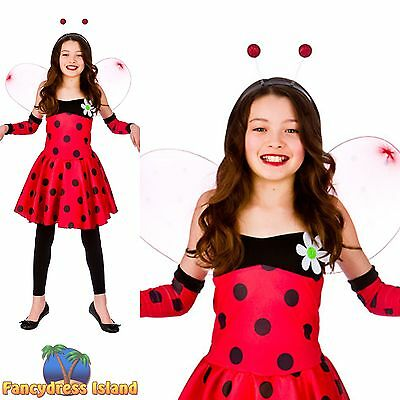 KIDS LADYBIRD LADYBUG INSECT ANIMAL CHILD Age 3-10 Girls Fancy Dress Costume