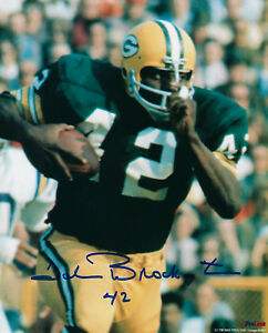 PACKERS-John-Brockington-signed-photo-8x10-w-42-AUTO-AUTOGRAPHED-Green-Bay