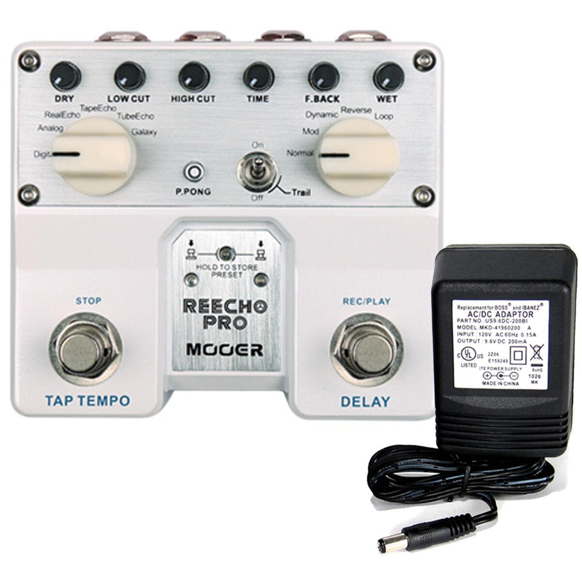 Mooer Reecho Pro Digital Delay w Tap Tempo w  9v power supply free shipping