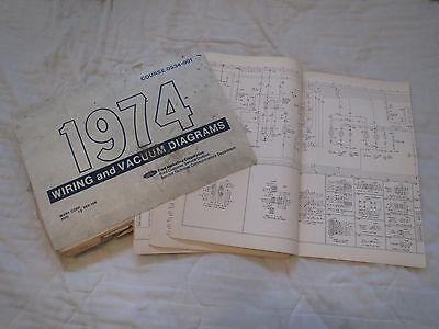 1974 ford f100 f250 f350 fseries wiring diagrams schematics manual sheets  set  ebay