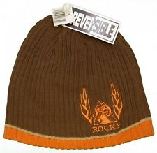 New! Rocky Outdoor Reversible Beanie Hat - Men's Knit Embroidered Skull Cap
