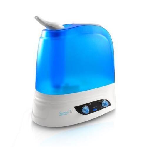 Night Light SereneLife PSLHUM80 Ultrasonic Humidifier Warm//Cool Mist Moisture