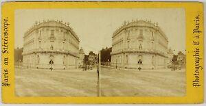 Parigi-A-Stereovisore-Francia-Foto-Stereo-PL55L1n-Vintage-Albumina-c1865