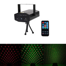 New 10W Mini Black Laser Projector Stage Light Remote Control Xmas Party DJ Club