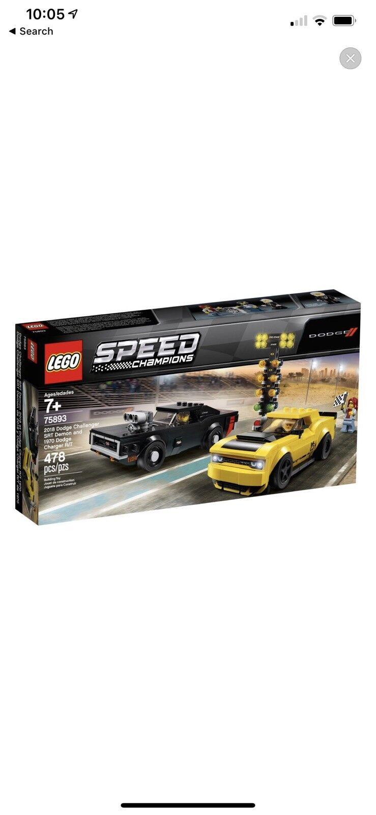 Lego speed champions 75893 Dodge  Chtuttienger SRT Demon Charger  negozio di moda in vendita