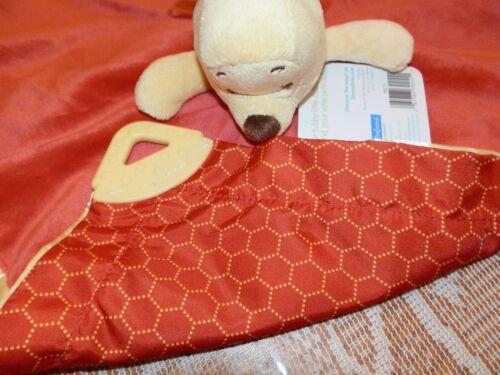 SECURITY BLANKET Winnie Pooh Disney Sweet Hunny Teether Honeycomb Back Design