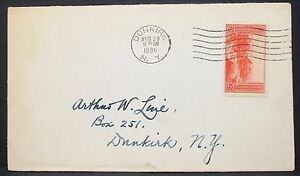 US-Postal-History-Cover-Dunkirk-Grand-Canyon-Stamp-2c-1936-USA-Letter-H-10911