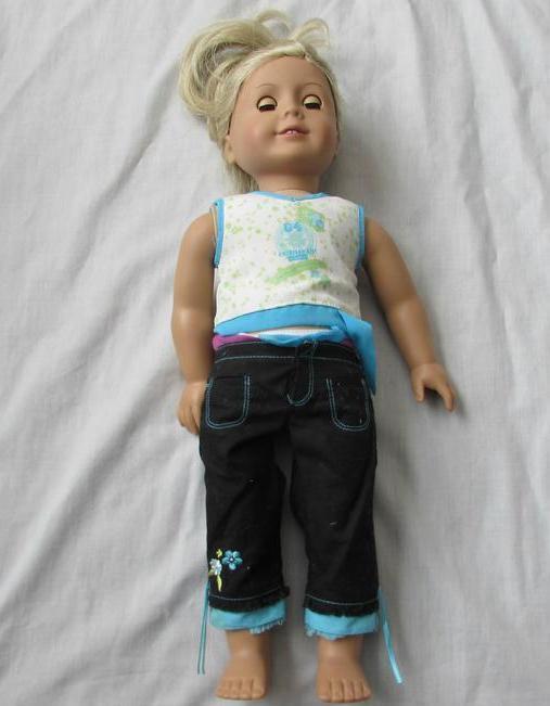 American Girl Doll Cabello Rubio ojos azules enorme Lote de Ropa Accesorios Ballet