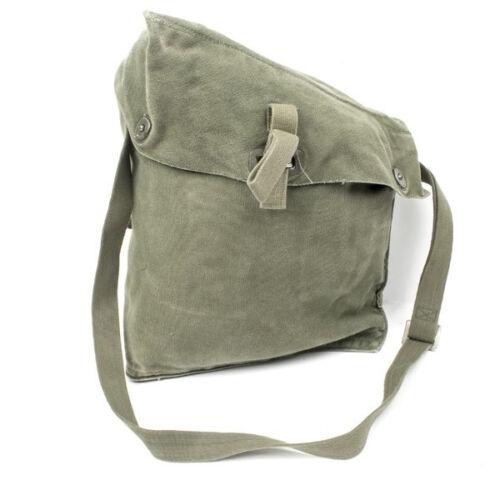 vintage military canvas bag SWEDISH ARMY M51 GAS MASK BAG many uses !!!