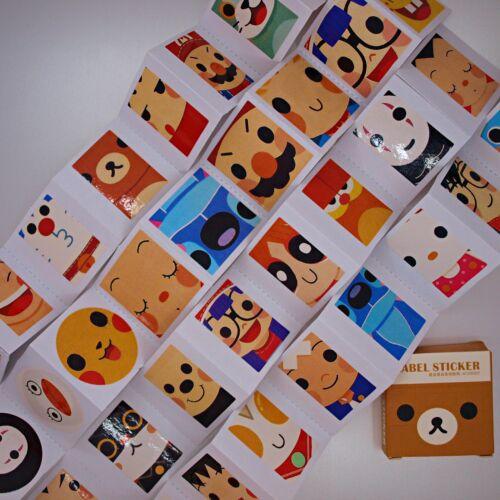 Cartoon Characters Stickers — 40 stickers in box — Scrapbooking Craft Fun Cute