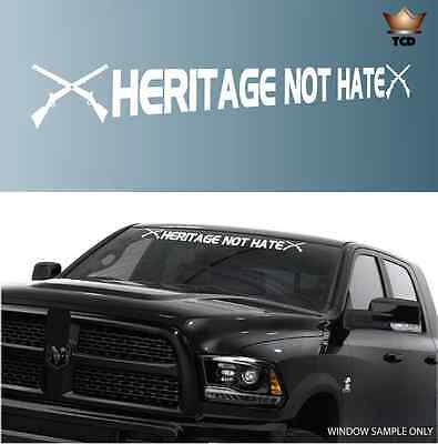 """Heritage Not Hate Decal Civil War Windshield Window Banner Decal 40/"""""""