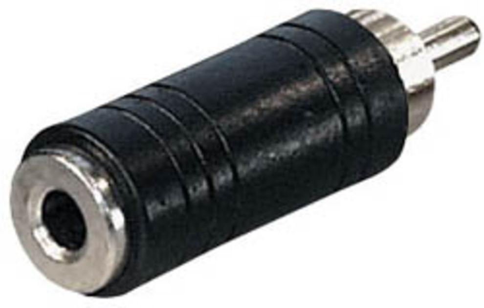Adaptor-Verbindungsstil rca male to jack 3,5 mm weiblich.Adapter