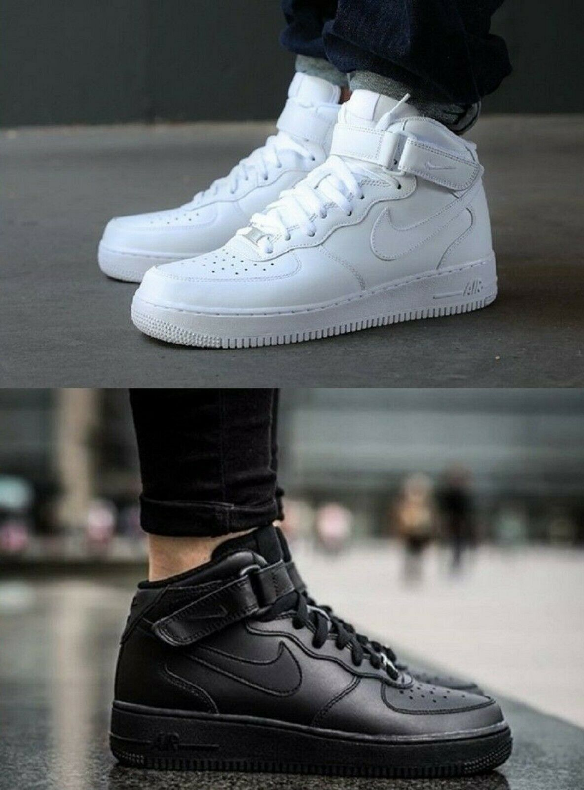 48dec9dea78c6 Men s NIKE AIR FORCE ONE 1 SNEAKERS LIFESTYLE SHOES NIKE MID  nypmlq7167-Athletic Shoes
