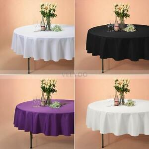 """70"""" 90"""" 120"""" Round Seamless Tablecloth for Restaurant Wedding Banquet Party New"""