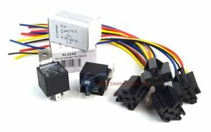 4-Pack-Bundle-30-40-AMP-Relay-5-Wire-Relay-Socket-w-Leads-Metra-Install-Bay