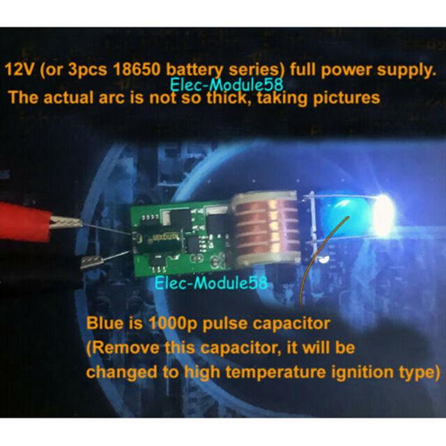 15KV High Voltage Generator Step-up Inverter Arc Igniter Coil Module DC 12V-15V