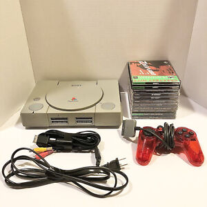 Original PlayStation One 1 System Console PS1 Bundle w/ Controller + 10 Games