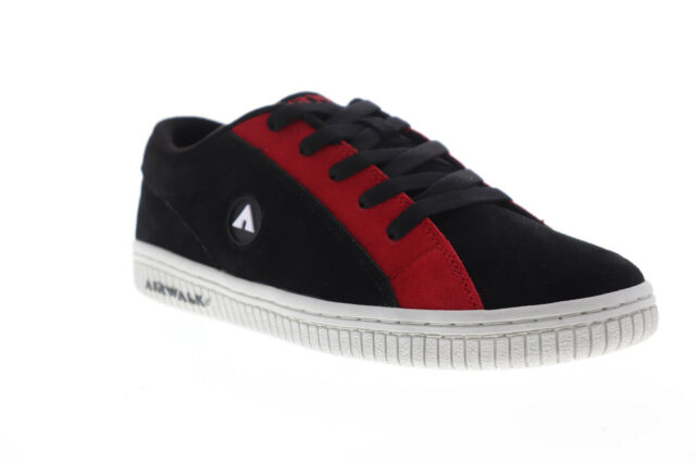 Airwalk The One Suede TRI AW00205-002 Mens Black Surf Skate Sneakers Shoes