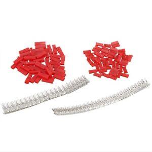 300Pcs-50set-2-54mm-JST-SYP-2-Pin-Female-amp-Male-Red-Plug-Housing-Crimp-M2E2