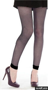 52a835dd366309 Image is loading BLACK-FISHNET-FOOTLESS-TIGHTS-PLAIN-CUFF-ONE-SIZE