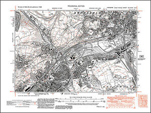 Rotherham SW Sheffield Tinsley Wincobank old map Yorkshire 1938