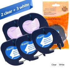 7PK LT 91331 91332 16952 91330 Compatible With Dymo LetraTag Plastic 1//2/'/' 8m