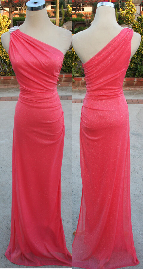 NWT BETSY & ADAM  CORAL Party Prom Formal Gown 6