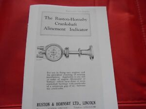 Discret Ruston Et Hornsby -- Vilebrequin Alignement Indicateur Instructions-shaft Alignment Indicator Instructions Fr-fr Afficher Le Titre D'origine