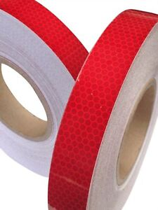 HI-VIZ-INTENSITY-GRADE-RED-REFLECTIVE-TAPE-25MM-X-1M-Exterior-Decal-Sticker