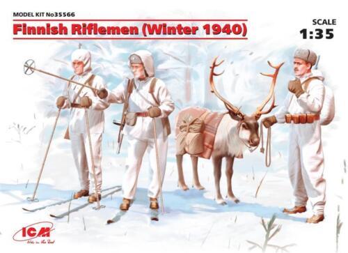 1:35 ICM 35566 Finnish Riflemen Winter 1940