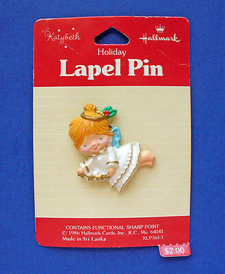 Hallmark PIN Christmas Vintage ANGEL KATYBETH Star Garland Holiday Brooch