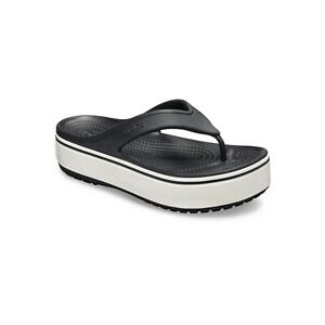 d14b1a3a4a7 Image is loading Crocs-205681-CROCBAND-PLATFORM-FLIP-Ladies-Summer-Pool-