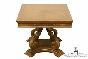 "Gordon's Furniture Italian Neoclassical 26"" Square Bookmatched Accent Table Easy To Use Tables"