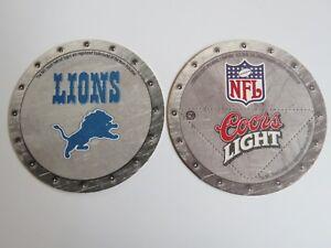 2003 Bière Brewery dessous de Verre ~ ~ Coors Light ~ ~ Detroit Lions NFL 0ZqyOhbu-09165653-877318420