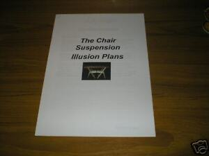 Building Plans for the Chair Suspension Illusion!!