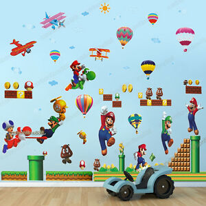 Image Is Loading Huge Combo SUPER MARIO BROS Wall Stickers Removable  Part 84