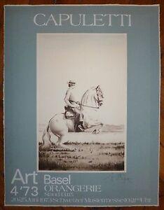 Capuletti-affiche-sur-velin-gravure-signee-1973-art-basel-cavalier-cheval