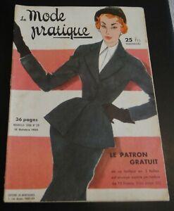 Magazine La MODE PRATIQUE  15 Octobre  1950  n°20