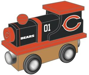 Chicago Bears Wooden Toy Train [NEW] NFL Wood Christmas Kids Boys ...