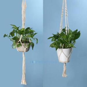Geflochten-Baumwolle-Seil-Blumenampel-Pflanzampel-Haengeampel-Blumentopf-Balkon