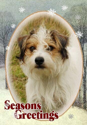 Parson Terrier Dog A6 Christmas Card Design XPARSON-13 by paws2print