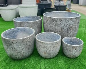 Outdoor-Garden-Patio-Planter-Pot-Round-Charlotte-Egg-GRC-Lightweight-Light-Grey