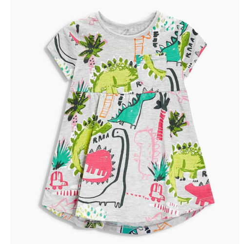 Baby Girls Infant Kids Cute Cartoon Dinosaur Dress Casual Cotton Blend Dresses