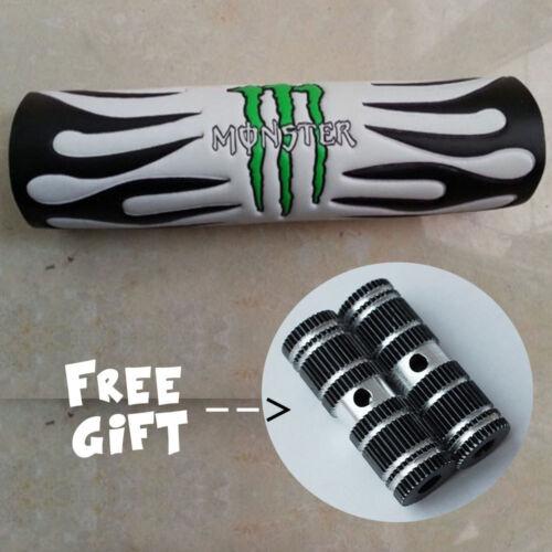 "9.44/"" Black DIRT BIKE Handlebar Cross Bar Pad /& 1 pair Black Stunt Foot Pegs"