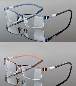 c43311e386ec Image is loading Men-TR90-Half-rimless-sport-Glasses-Optical-Eyeglass-