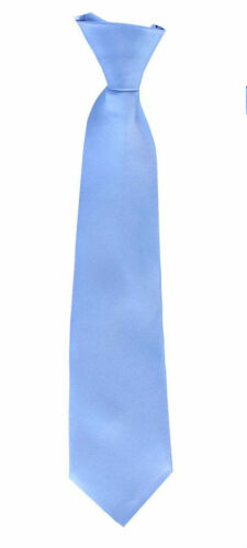 8-16 Kids 4-7 2T-4T Colors Clip On Neck Tie For Toddler Satin Tie 25 Boys