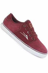 Lakai-Shoes-Carlo-Burgundy-Suede-New-Skateboard-Sneakers