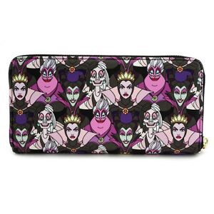Loungefly-Disney-Villains-Cruella-Maleficent-Ursula-Zip-Around-Wallet-WDWA0703