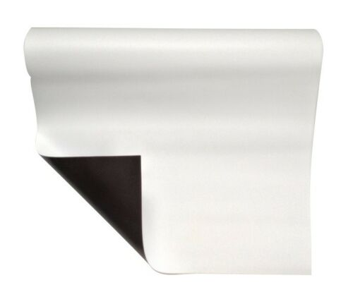 Magnetfolie weiß matt beschichtet 0,8mm x  50cm x  62cm
